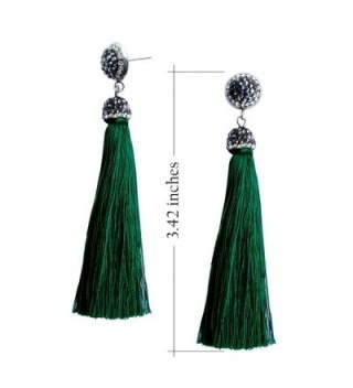 Womens Thread Tassel Earrings Rhinestones in Women's Drop & Dangle Earrings