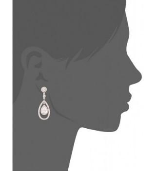 Anne Klein Rose Orbital Earrings