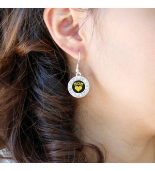 Softball Circle Earrings Crystal Rhinestones in Women's Drop & Dangle Earrings