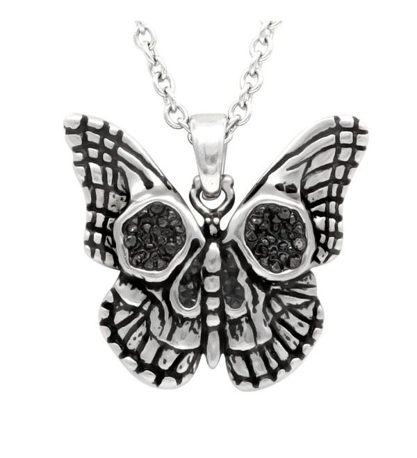 Controse Butterfly skull necklace - CP185WEXHID