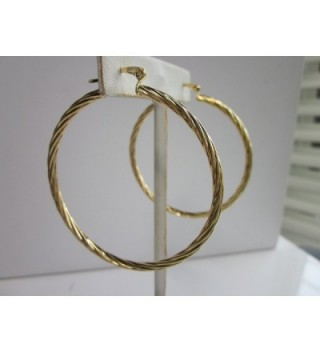 Karat Gold Plated Twisted Earring
