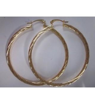 Karat Gold Plated Twisted Earring in Women's Hoop Earrings