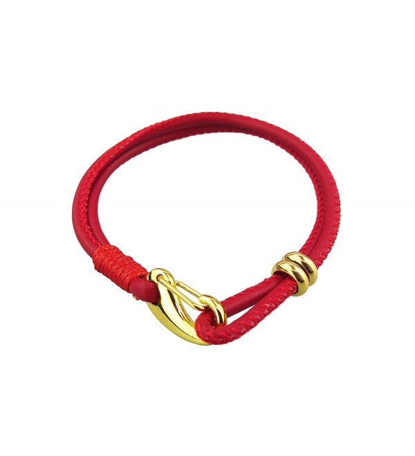 Kabbalah Red Gold Plated Leather Bracelet - CP11Q3DEDZX
