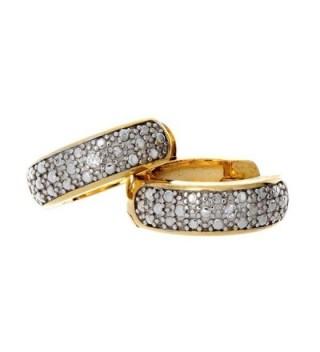 Pop Fashion Two Toned Pretty Round Hinged Huggie Hoop Dangle Earrings for Women - CT17X0G8ZAE