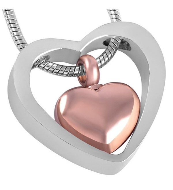 Cremation Necklace Pendant Memorial Jewelry - sliver and rose gold - CT17XX5642L