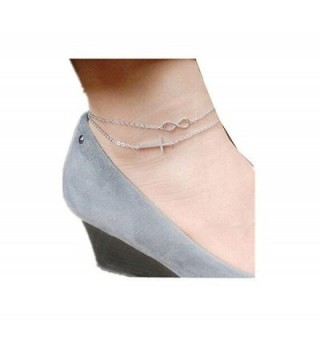Double Sideways Gold tone Anklet wiipujewelry