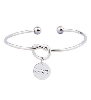 Ensianth Love Knot Bracelet Bangle Tie the Knot Cuff Bracelet with Zodiac Constellation Signs - Sagittarius - CZ17YL5WKGM
