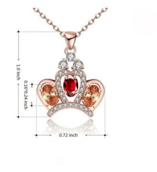 Mealove Princess Crystal Pendant Necklace in Women's Chain Necklaces