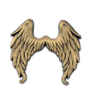 PinMart's Antique Gold Flying Angel Wings Lapel Pin - CF11MHZQWDH