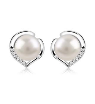 B Catcher Earrings Sterling Freshwater Valentines - CN185N07AI0