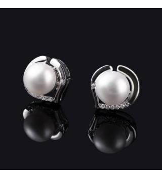 B Catcher Earrings Sterling Freshwater Valentines in Women's Stud Earrings