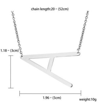 Rinhoo Stainless Initial Alphabet Necklace