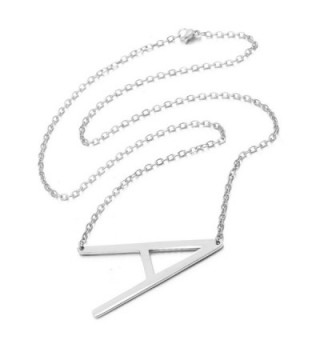 Rinhoo Stainless Initial Alphabet Necklace in Women's Pendants