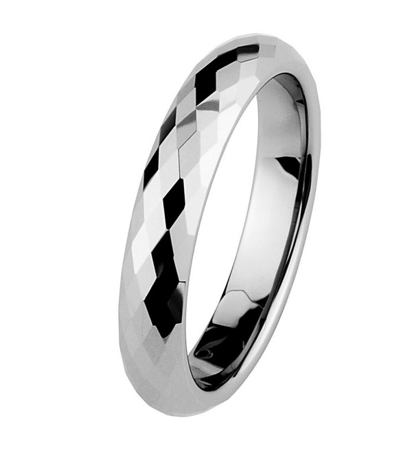 4mm Faceted Tungsten Wedding Band - CG116MZF32T