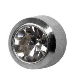 Studex Ear Piercing Titanium Birthstone Stud Earrings 4mm Bezel Setting - April / Crystal - CD11EKCU817