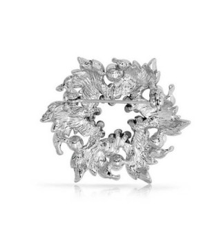Bling Jewelry Simulated Crystal Rhodium in Women's Brooches & Pins