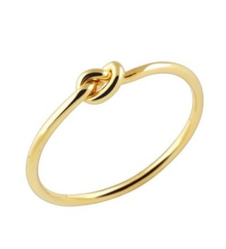 Dainty Tie the Knot Midi Ring in Gold Silver Rose Gold Stacking Knuckle Ring Bridesmaid Gift - Gold - CI18596ZRAN