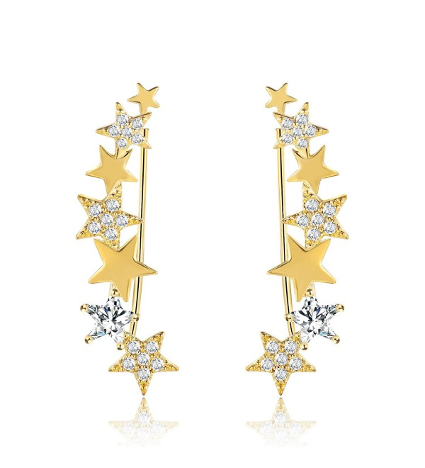 Mevecco Crawler Climber Earrings Jewelry Star4 GD - Star4 GD - CJ186L9DTOH