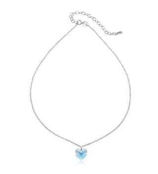 Sterling Silver Necklace Swarovski Crystals