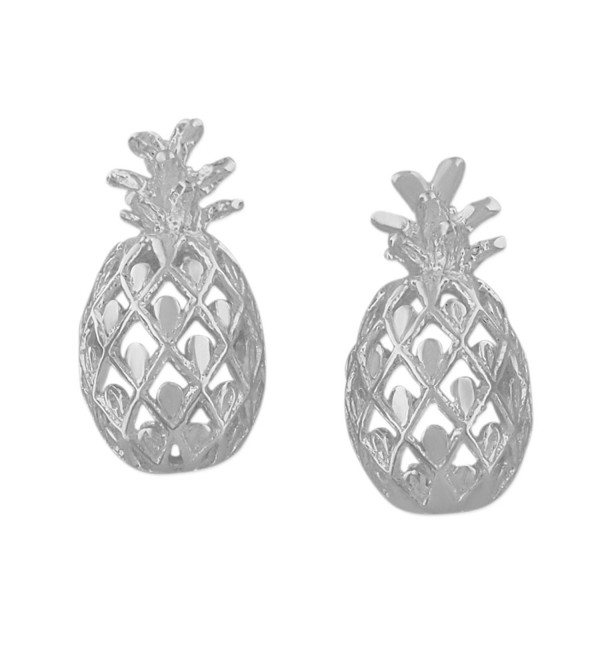 Sterling Silver Pineapple Stud Earrings - CD1152JJ6WJ