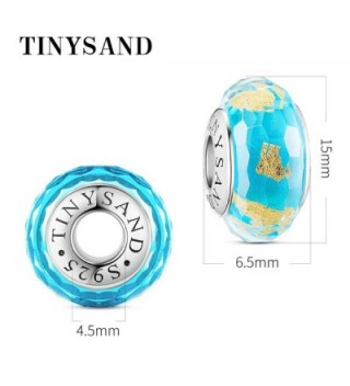 TINYSAND Sterling Crystal Lampwork Bracelets in Women's Charms & Charm Bracelets