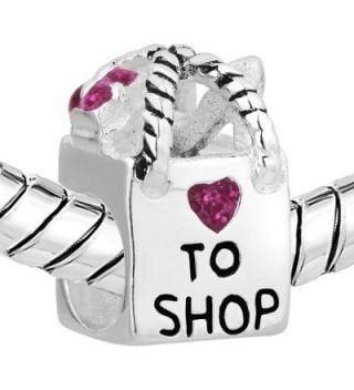 LovelyCharms Sterling Shopping Crystal Bracelets