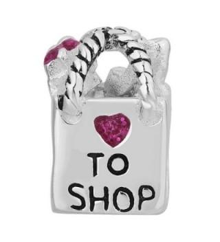 LovelyCharms Sterling Shopping Crystal Bracelets in Women's Charms & Charm Bracelets