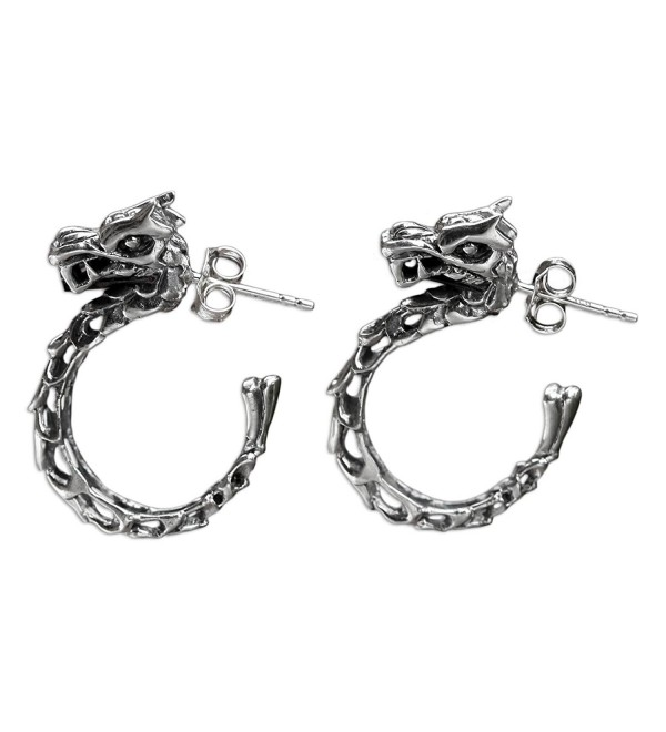NOVICA .925 Sterling Silver Dragon Themed Half-hoop Earrings- 'Anantaboga Dragon' - CI127QZR3AH