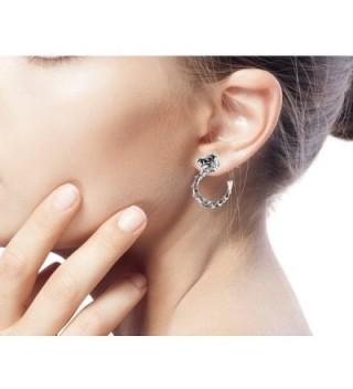 NOVICA Sterling Half hoop Earrings Anantaboga in Women's Hoop Earrings
