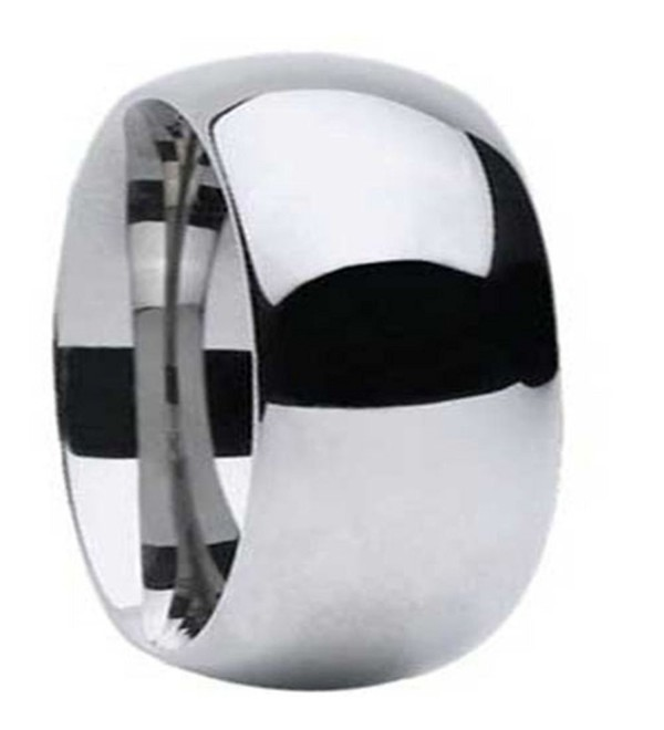 High Polished Tungsten Carbide 11mm Width Classic Dome Traditional Wedding Comfort Fit Ring Band R679 - C7182ZA56O0