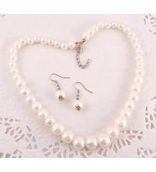 Pearl Necklace Earrings Set Wedding in Women's Jewelry Sets