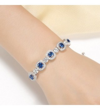 Caperci Cushion Sapphire Adjustable Bracelet in Women's Tennis Bracelets