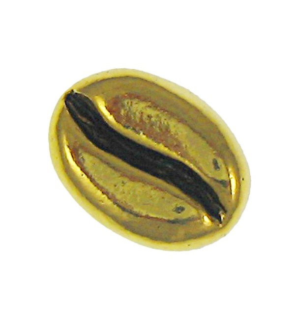 Coffee Bean Gold Lapel Pin - C2187NE8KE7