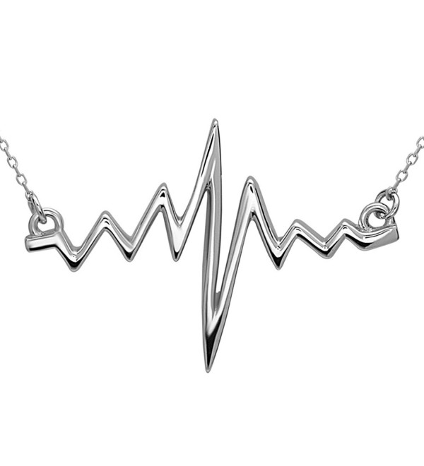 Heartbeat Necklace by Silver Phantom Jewelry - CQ182W6CCLC