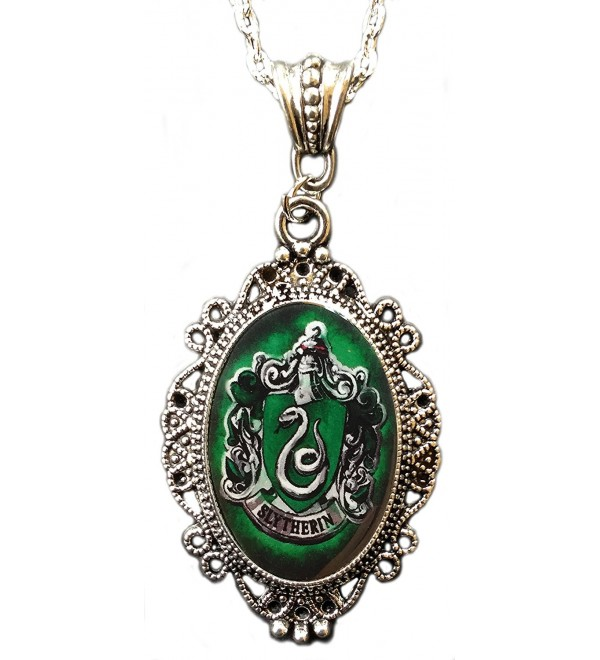 Alkemie Harry Potter Slytherin House Crest Cameo Pendant Necklace - CL122MICXC7