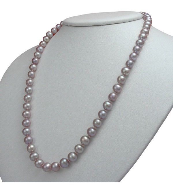 Lavender Freshwater Cultured Pearl Necklaces AA Cultured Pearl Pendant Necklace Holiday Gift - CS12N104VEP