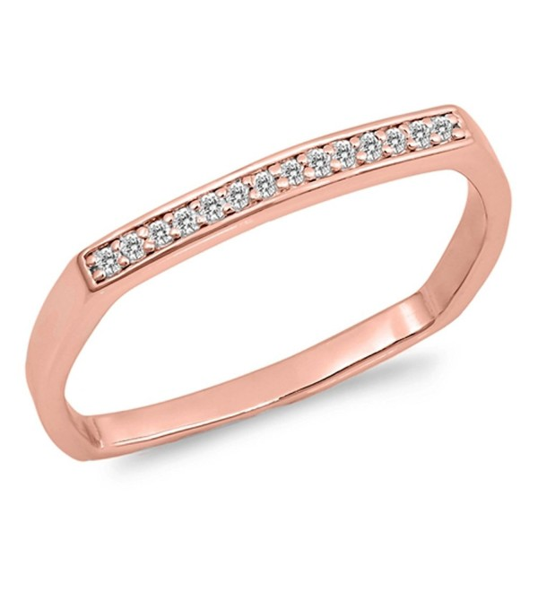 CHOOSE YOUR COLOR Sterling Silver Wedding Square Ring - CY12NVFT1NR