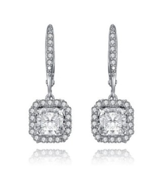 Lux Glam Romantic Zirconia Earrings Surrounded