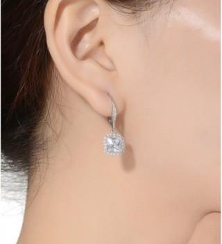 Lux Glam Romantic Zirconia Earrings Surrounded in Women's Drop & Dangle Earrings