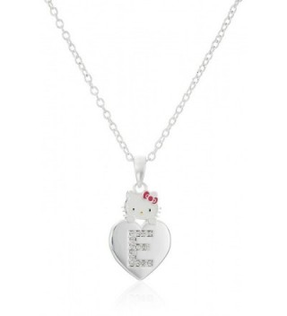 "Hello Kitty Girls' Crystal and Enamel Initial Pendant Necklace- 18"" - CD11GC5BP03"