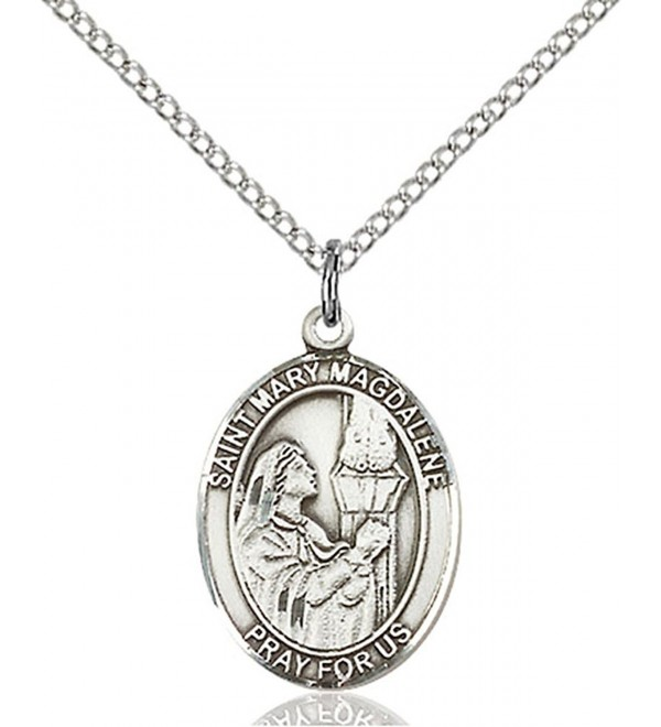Sterling Magdalene Pendant Stainless Penitent - C612836J5WN