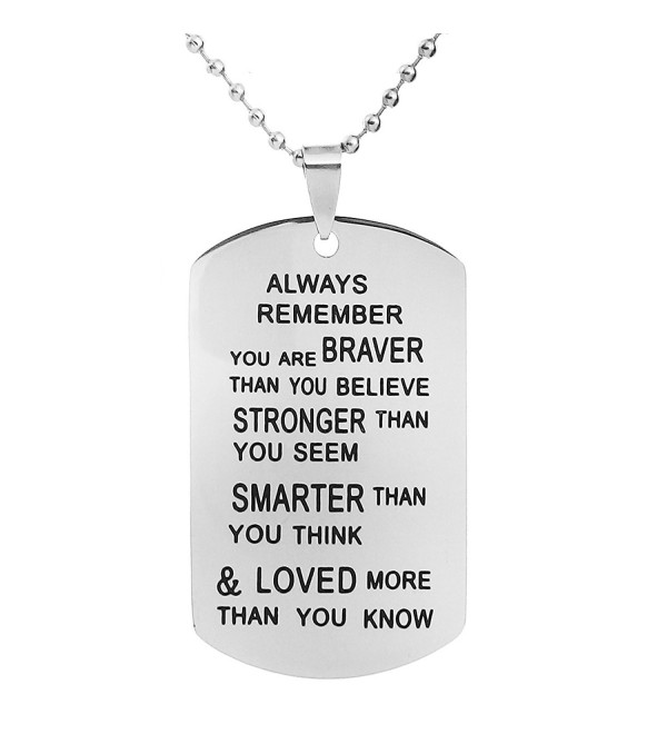 ALoveSoul Inspirational gifts Necklace Encouragement - 1 Pcs - C217Y52S7CQ
